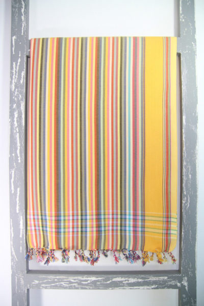 Kenyan Kikoy Sarong Stripy Oasis Colour
