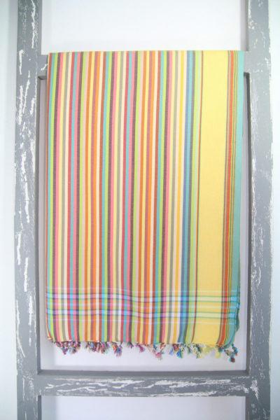 Kenyan Kikoy Sarong Stripy Sahara Colour