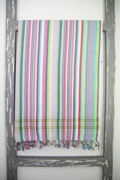Kenyan Kikoy Sarong Stripy Zanzi Colour