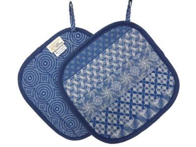 Shweshwe Pot Holder Blue Milktart