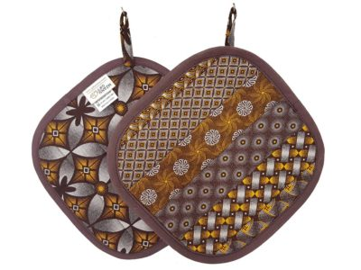 Shweshwe Pot Holder Brown Bobotie