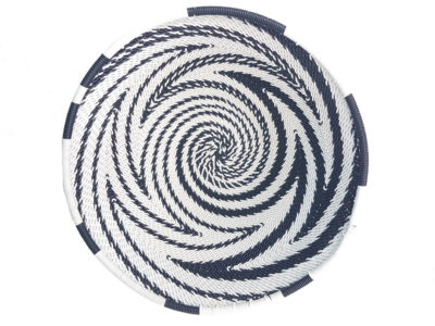 Recycled Telephone Wire Bowl Zebra Design