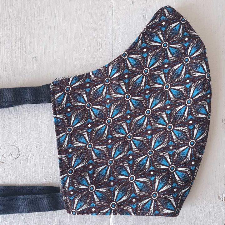 Shweshwe Cloth Mask - Kayamandi Blue