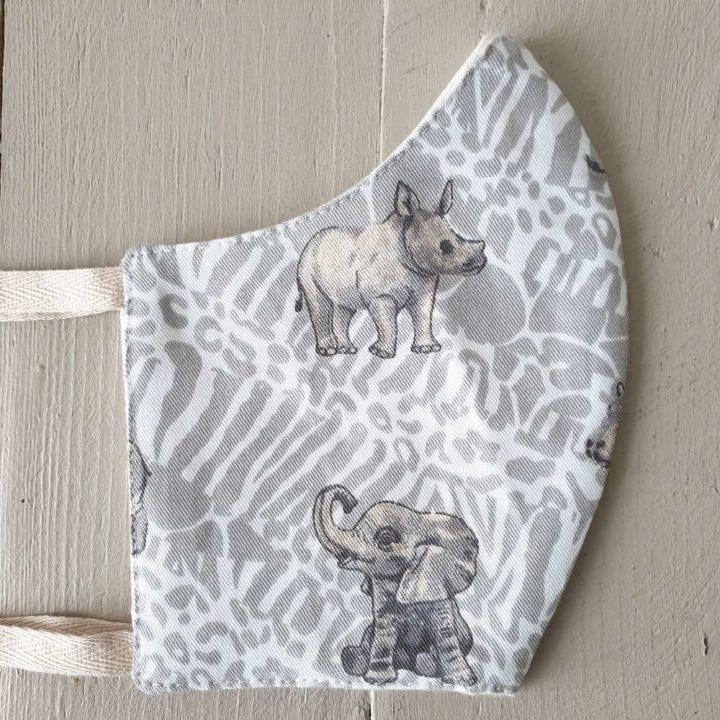 Shweshwe Fabric Mask South African Baby Animals